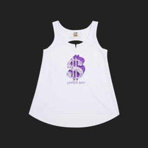 Purple dollar sleeveless