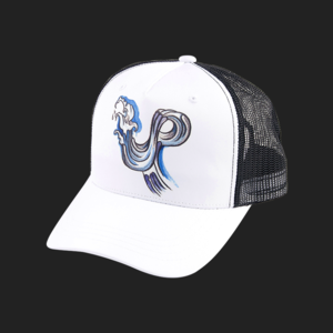 Up wave mesh cap