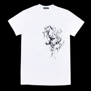 uppershy pierrot tee shirts unisex white